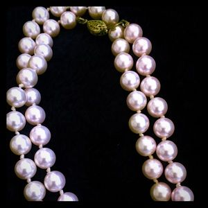 Light Pink Pearl Strand with Delicate Brass Hook